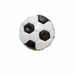Football Buttons - Black & White - Pack of 10